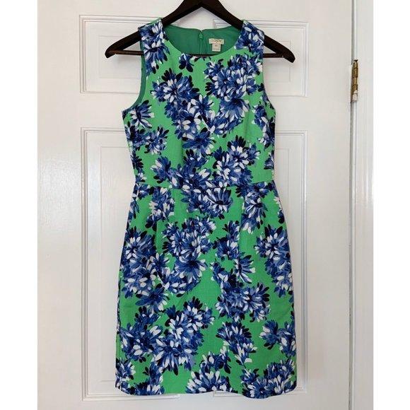 J. Crew Bright Floral Sheath Dress